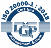 ISO 20000-1 : 2018 certified