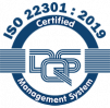 ISO 22301 : 2019 certified